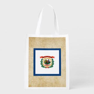 Golden West Virginia Flag Reusable Grocery Bag