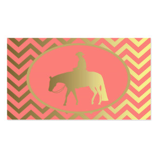 Golden Western Pleasure Horse Double-Sided Standard Business Cards (Pack Of 100)