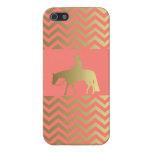 Golden Western Pleasure Horse iPhone 5/5S Case