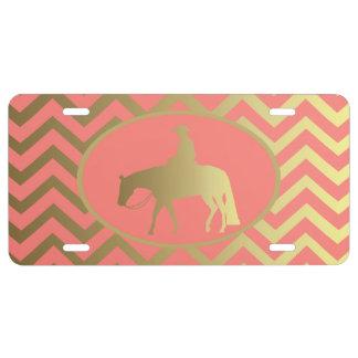 Golden Western Pleasure Horse License Plate