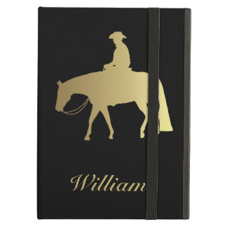 Golden Western Pleasure Horse on Black Cover For iPad Air