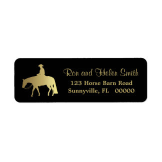 Golden Western Pleasure Horse on Black Label