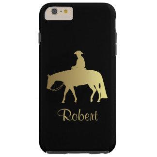 Golden Western Pleasure Horse on Black Tough iPhone 6 Plus Case