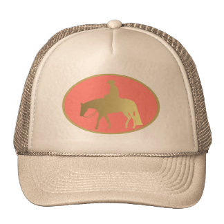 Golden Western Pleasure Horse Trucker Hat