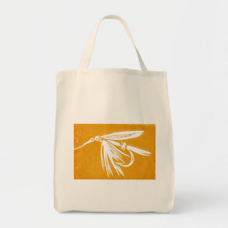 """""""Golden Wet Fly"""" Trout Wet Fly Grocery Tote"""