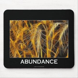 Golden Wheat ABUNDANCE Inspirational Fractal Art Mouse Pad