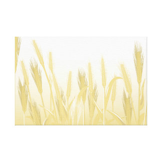 Golden Wheat Field Wrapped Canvas