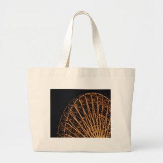 Golden Wheel Canvas Bag