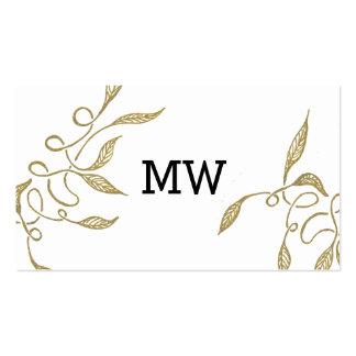 Golden - White Ornament Business Card