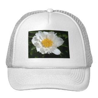 Golden White Peony Trucker Hat