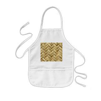 Golden Wicker Basket Weave Textured Aprons