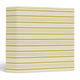 Golden wide and narrow stripes 3 ring binder