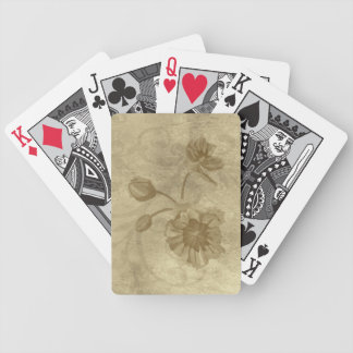 Golden Wildflowers Playing Cards