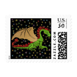 Golden Winged Dragon Postage
