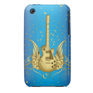 Golden Winged Guitar iPhone 3 Case-Mate Cases
