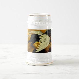 Golden Winged Pegasus Beer Stein 18 Oz Beer Stein