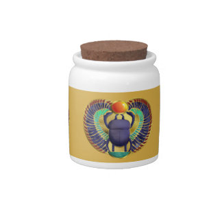 Golden Winged Scarab Candy Jar