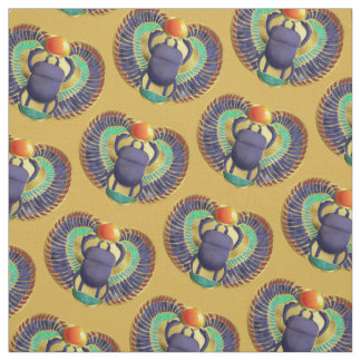 Golden Winged Scarab Fabric