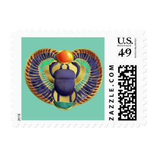 Golden Winged Scarab Postage Stamp