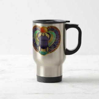 Golden Winged Scarab Travel Mug
