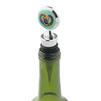 Golden Winged Scarab Wine Stopper
