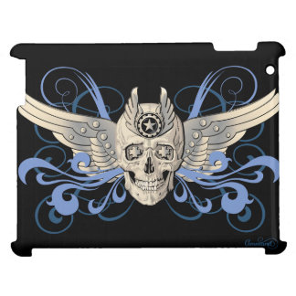 Golden Winged Skull – 11 iPad Cover For The iPad 2 3 4