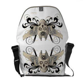 Golden Winged Skull #1b Courier Bag