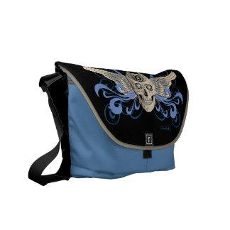 Golden Winged Skull #2b Courier Bag