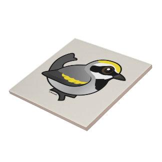 Golden-winged Warbler Ceramic Tile
