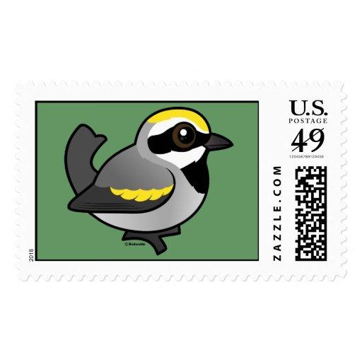 Golden-winged Warbler Postage