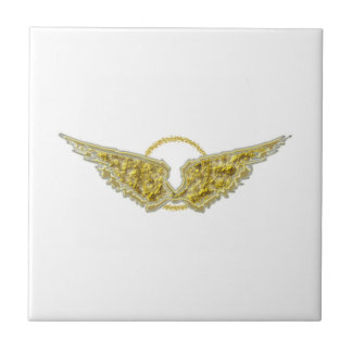 Golden wings with halo tiles