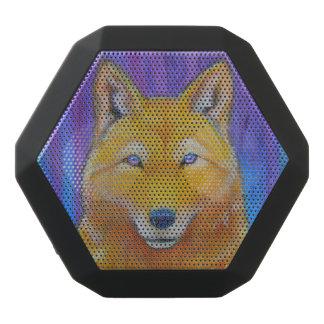 Golden Wolf Face Head Fantasy Black Bluetooth Speaker
