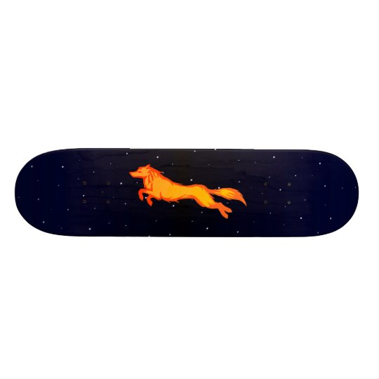 Golden Wolf Skateboard