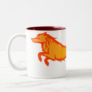 Golden Wolf Two-Tone Coffee Mug