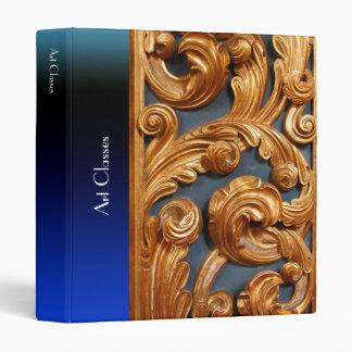 Golden Wood Carving Pattern Binder