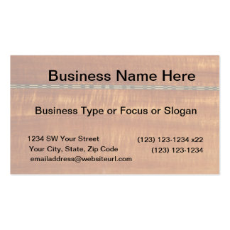 Golden wood grain with inlay background  #2 Double-Sided standard business cards (Pack of 100)