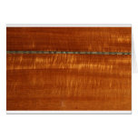 Golden wood grain with inlay background greeting card