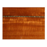 Golden wood grain with inlay background expanded postcards