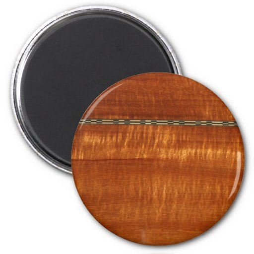Golden wood grain with inlay background magnet