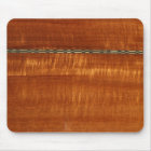 Golden wood grain with inlay background mouse pad