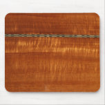 Golden wood grain with inlay background mouse pads