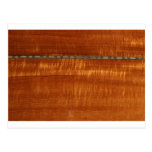 Golden wood grain with inlay background post cards