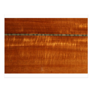 Golden wood grain with inlay background postcard