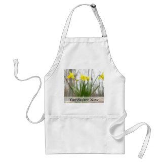 Golden Woodland Daffodils Adult Apron