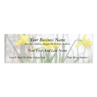 Golden Woodland Daffodils Double-Sided Mini Business Cards (Pack Of 20)