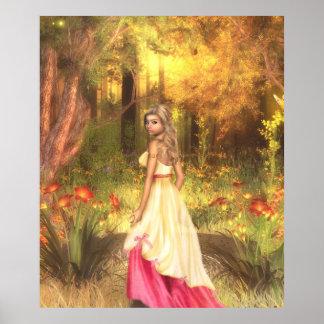 Golden Woodlands Print
