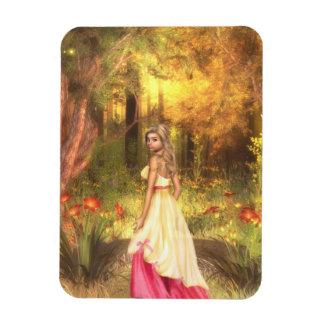 Golden Woodlands Rectangular Photo Magnet