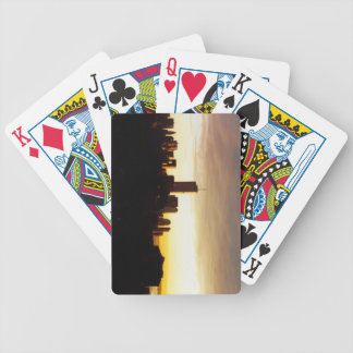 Golden world trade center bicycle playing cards