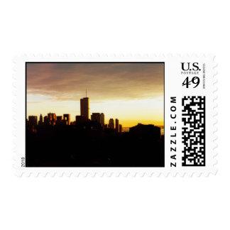 golden world trade center postage