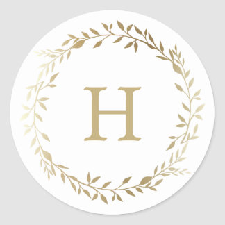 Golden Wreath | Holiday Stickers